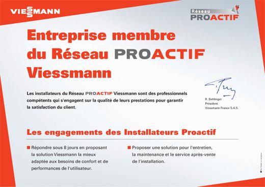 Réseau Proactif Viessmann